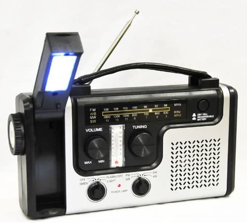topAlert Emergency Solar Hand Crank Radio