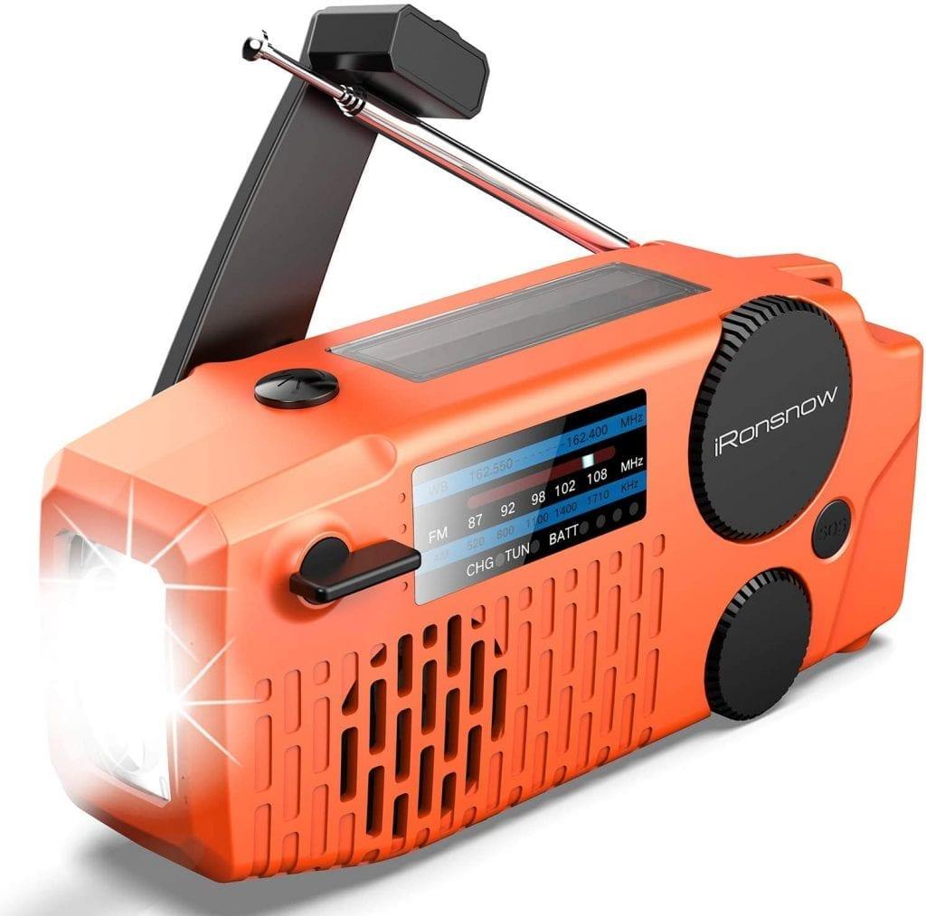 iRonsnow Solar Emergency NOAA Weather Radio